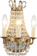 Urban Classic 1433W8BB Roma Burnished Brass Lighting Sconce