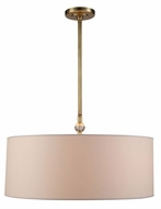 Urban Classic 1441D22BB Asha Burnished Brass Drum Pendant Lighting