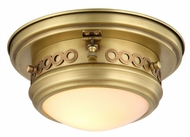 Urban Classic 1447F10BB Mallory Burnished Brass Flush Mount Light Fixture