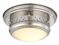 Urban Classic 1447F10PN Mallory Polished Nickel Flush Ceiling Light Fixture