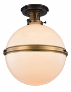 Urban Classic 1448F16BZBB Santos Bronze & Burnished Brass Flush Mount Light Fixture