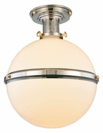Urban Classic 1448F16PNPG Santos Polished Nickel & Polished Gold Flush Mount Lighting Fixture
