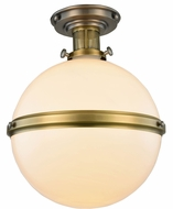 Urban Classic 1448F16VNBB Santos Vintage Nickel & Burnished Brass Flush Ceiling Light Fixture