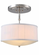 Urban Classic 1449D15PN Manhattan Polished Nickel Drum Drop Ceiling Light Fixture