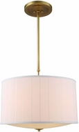 Urban Classic 1449D24BB Manhattan Burnished Brass Drum Pendant Lighting