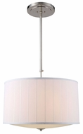Urban Classic 1449D24PN Manhattan Polished Nickel Drum Lighting Pendant