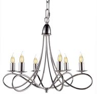 Urban Classic 1452D22PN Lyndon Contemporary Polished Nickel Chandelier Lamp
