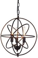 Urban Classic 1453D17DB Vienna Contemporary Dark Bronze 17  Hanging Pendant Light