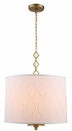 Urban Classic 1457D23BB Meridian Burnished Brass Drum Drop Ceiling Light Fixture