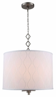 Urban Classic 1457D23VN Meridian Vintage Nickel Drum Pendant Light
