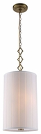 Urban Classic 1458D13BB Luna Burnished Brass Drum Lighting Pendant