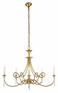 Urban Classic 1470G37BB Jolie Burnished Brass Chandelier Light