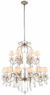 Urban Classic 1471G39SL Diana Vintage Silver Leaf Chandelier Lighting