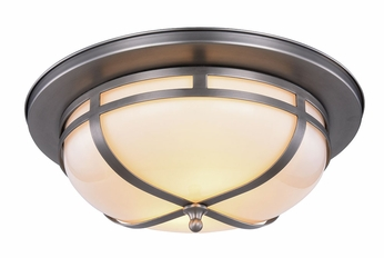 outlet store 1276f c79bc Urban Classic 1478F15VN Bella Vintage Nickel Flush Ceiling Light Fixture