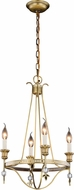 Urban Classic 1487D17BB Phoebe Burnished Brass Mini Ceiling Chandelier