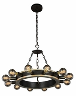 Urban Classic 1500D25VBSL Winston Contemporary Silver Leaf & Vintage Bronze  25  Chandelier Light