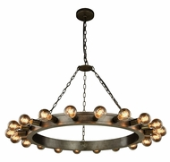 Urban Classic 1500G40AI Winston Contemporary Aged Iron 40  Chandelier Light