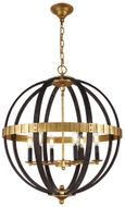 Urban Classic 1503D24SR Orbus Modern Saddle Rust / Golden Iron 24  Pendant Light