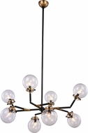 Urban Classic 1507G44BB Leda  Modern Burnished Brass&Flat Black 44  Chandelier Light