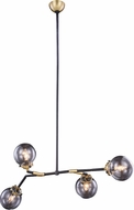 Urban Classic 1507G50BB Leda  Modern Burnished Brass&Flat Black 50  Hanging Chandelier