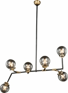 Urban Classic 1507G60BB Leda  Modern Burnished Brass&Flat Black 60  Chandelier Lighting