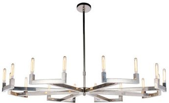 Urban Classic 1535G72PN Corsica Contemporary Polished Nickel 72 Chandelier Lamp
