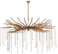 Urban Classic 1539G60DAG Willow Drizzled Antique Gold Halogen 60  Pendant Light