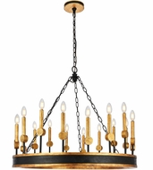 Urban Classic 1543D35VBGI Neva Vintage Bronze and Golden Iron 35  Chandelier Lighting