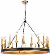 Urban Classic 1543G50VBGI Neva Vintage Bronze and Golden Iron 50  Chandelier Lamp