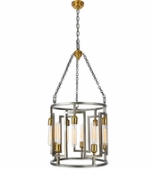 Urban Classic 1544D18VN Fontana Contemporary  Vintage Nickel and Electroplated Brass  18  Drum Pendant Lighting