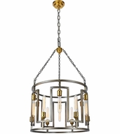 Urban Classic 1544D24VN Fontana Modern  Vintage Nickel and Electroplated Brass  24  Drum Pendant Light