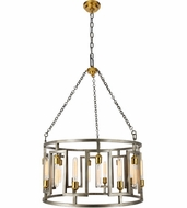 Urban Classic 1544D32VN Fontana Contemporary  Vintage Nickel and Electroplated Brass  32  Drum Lighting Pendant