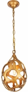 Urban Classic 1545D10GG Bombay Contemporary Gilded Gold Mini Pendant Lamp