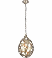 Urban Classic 1545D10GS Bombay Modern Gilded Silver Mini Hanging Lamp