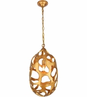 Urban Classic 1545D12GG Bombay Contemporary Gilded Gold 12  Hanging Light
