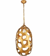 Urban Classic 1545D14GG Bombay Contemporary Gilded Gold 14  Pendant Lighting Fixture