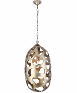 Urban Classic 1545D14GS Bombay Modern Gilded Silver 14  Hanging Pendant Lighting