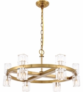 Urban Classic 1550D26BB Chateau Burnished Brass Halogen 26  Chandelier Light