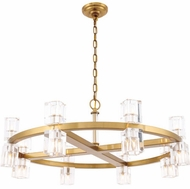 Urban Classic 1550D32BB Chateau Burnished Brass Halogen 32  Hanging Chandelier