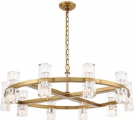 Urban Classic 1550D36BB Chateau Burnished Brass Halogen 36  Chandelier Lighting