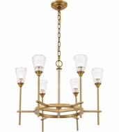Urban Classic 1552D26BB Soiree Contemporary Burnished Brass Halogen 26  Ceiling Chandelier