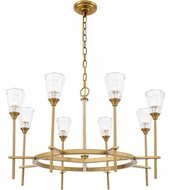 Urban Classic 1552D32BB Soiree Contemporary Burnished Brass Halogen 32  Chandelier Light