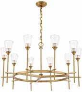 Urban Classic 1552D36BB Soiree Contemporary Burnished Brass Halogen 36  Lighting Chandelier