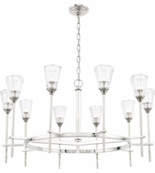 Urban Classic 1552D36PN Soiree Modern Polished Nickel Halogen 36  Chandelier Lamp