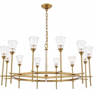 Urban Classic 1552G42BB Soiree Contemporary Burnished Brass Halogen 42  Chandelier Light