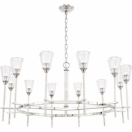 Urban Classic 1552G42PN Soiree Modern Polished Nickel Halogen 42  Ceiling Chandelier