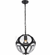 Urban Classic 1710D12FB Vega Contemporary Flat Black Mini Hanging Pendant Light