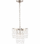 Urban Classic 1713D12PN Debutante Polished Nickel Mini Ceiling Light Pendant