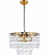 Urban Classic 1713D16LAB Eden Light Antique Brass 16  Ceiling Pendant Light