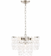 Urban Classic 1713D16PN Debutante Polished Nickel 16  Drop Ceiling Light Fixture